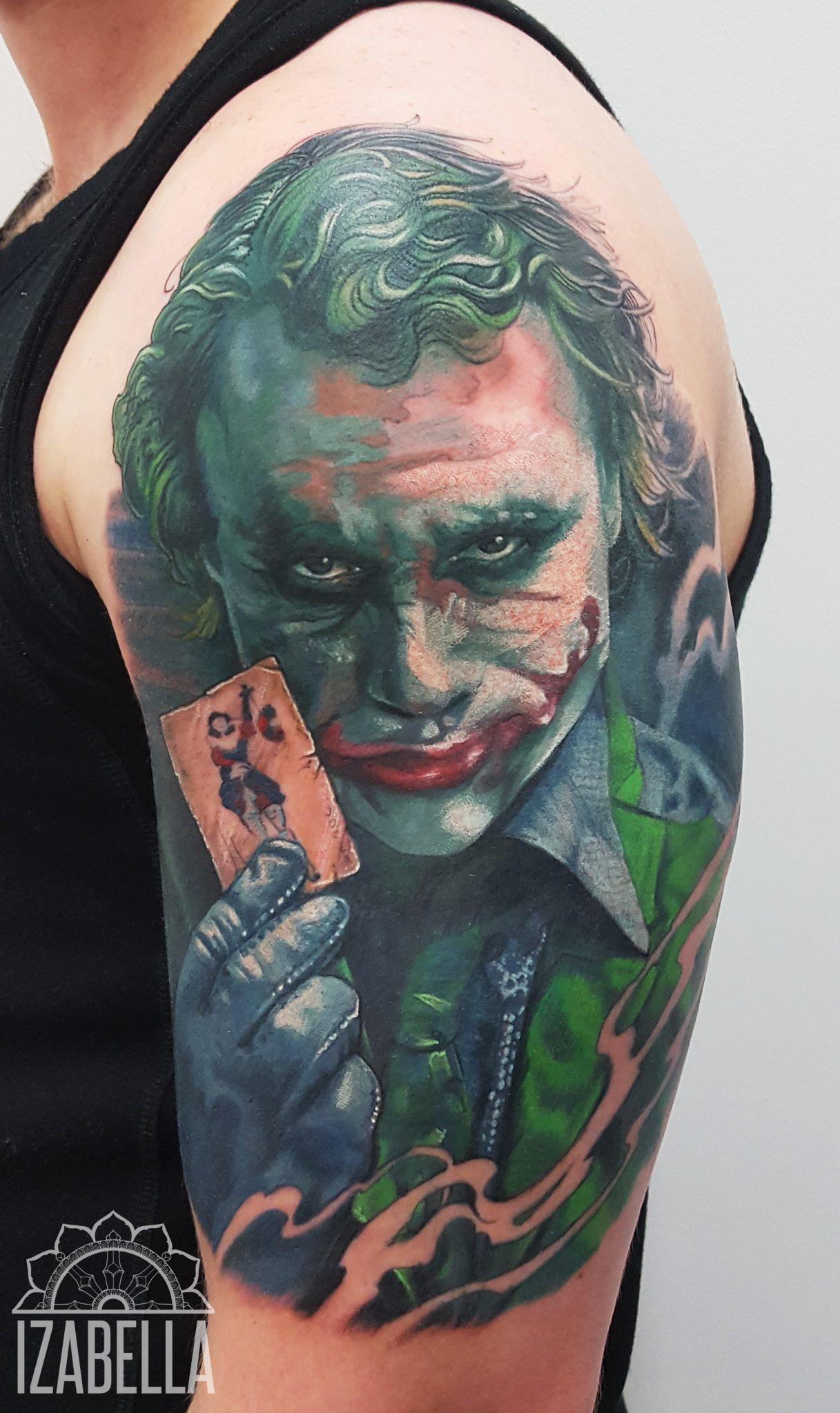 Joker Jocker Ramie Arm Samsara Tattoo Pracownia Artystyczna Tatuażu