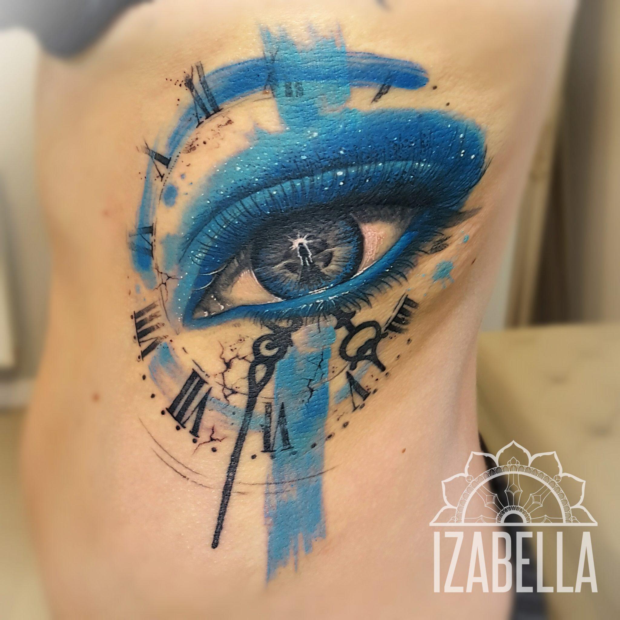 Oko Zegar Eye Clock Samsara Tattoo Pracownia Artystyczna