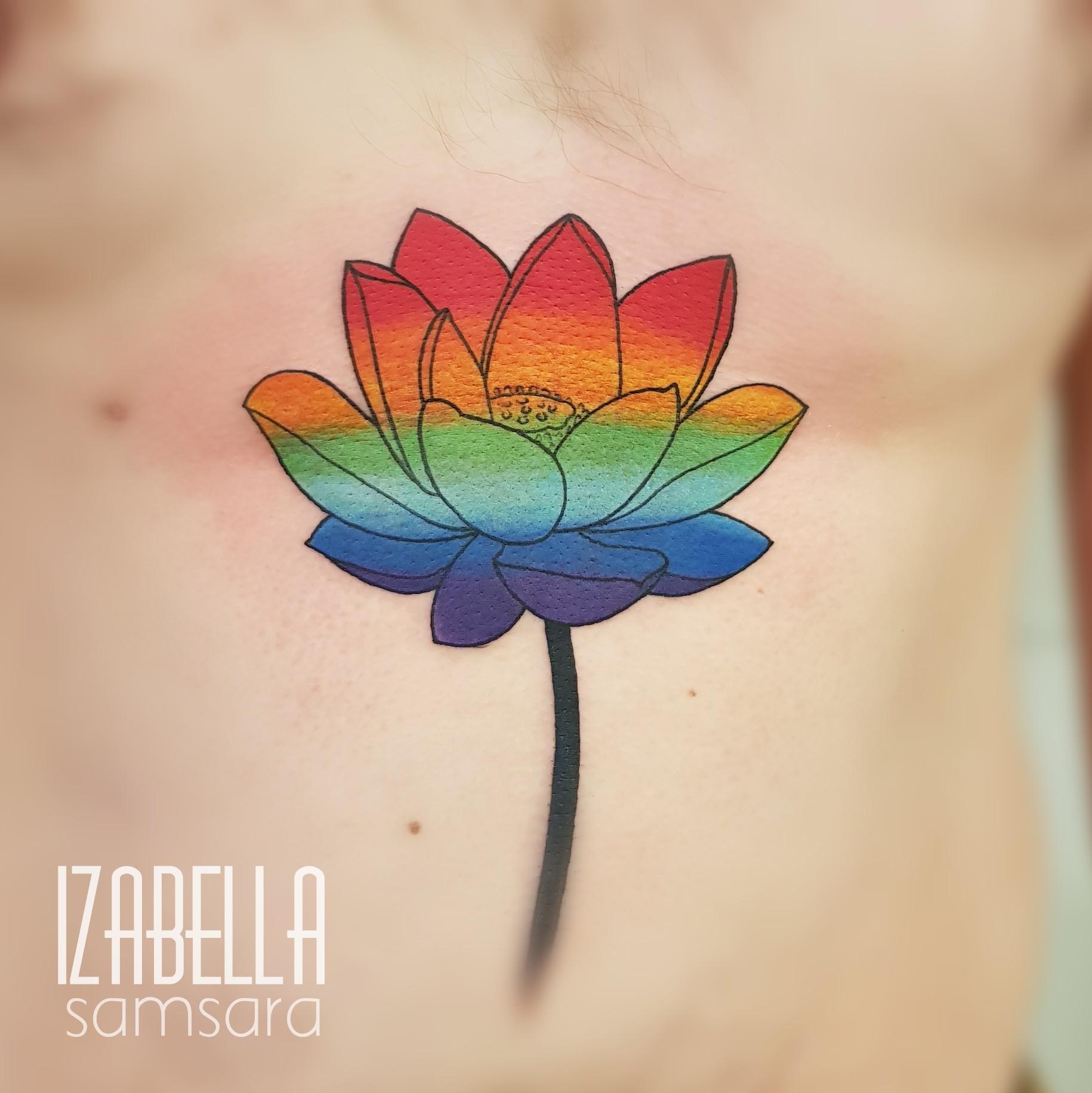 Kwiat tęcza flower rainbow