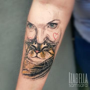 twarz kot cat face