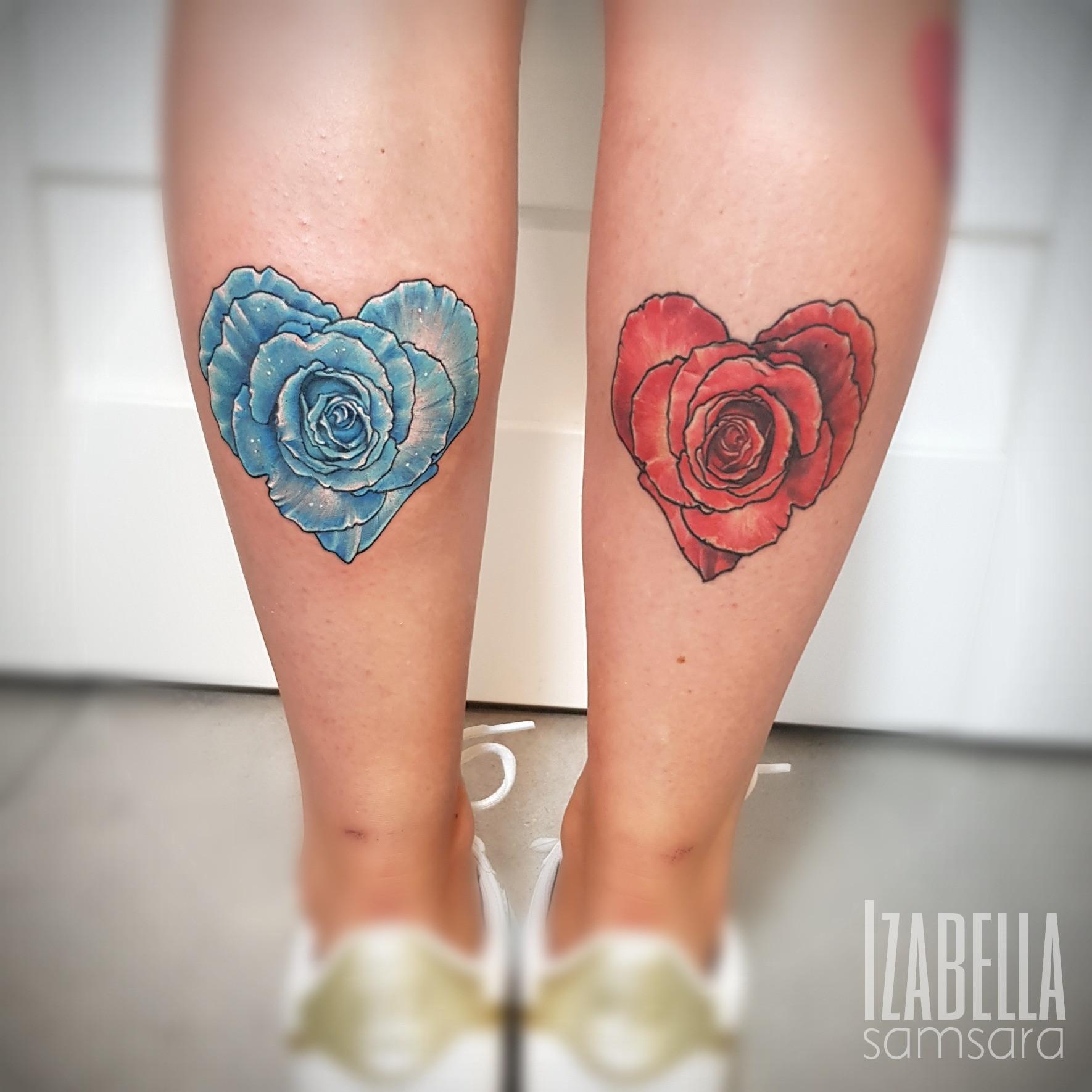 roses hearts róże serca
