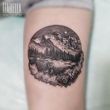 mountains round forearm góry okrągły przedramie