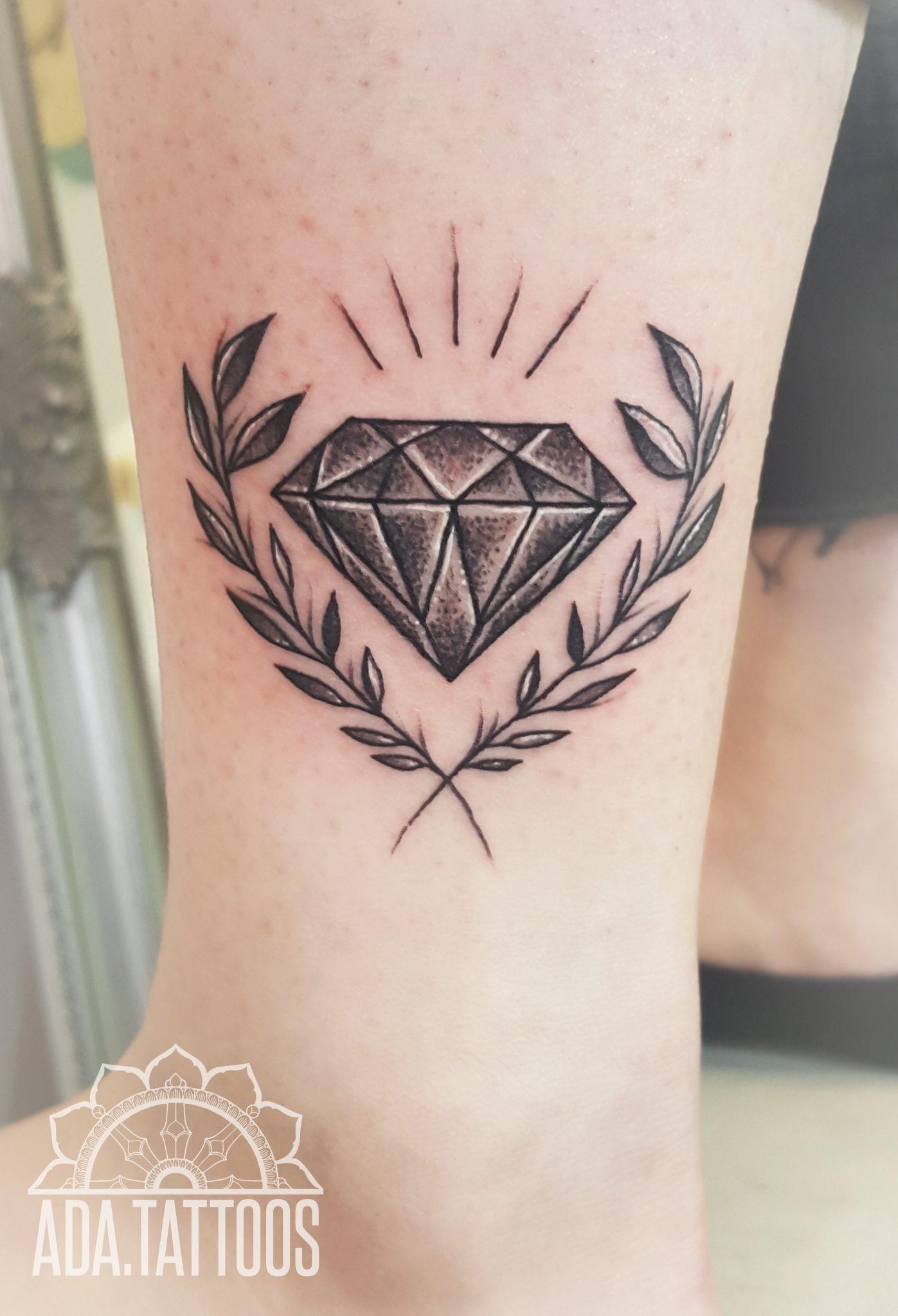 Diament Diamond Samsara Tattoo Pracownia Artystyczna Tatuażu